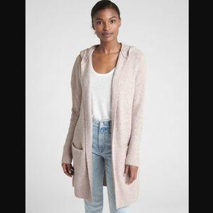{GAP} Wool Blend Hooded Open Front Cardigan L